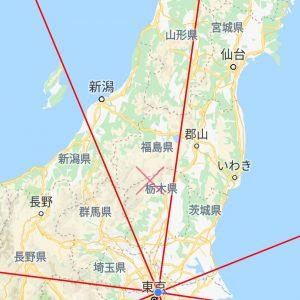 東京からの方位